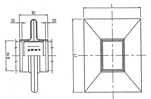 矩形单波补偿器结构示意图